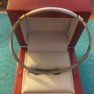 Sterling silver 925  gold 10k bracelet